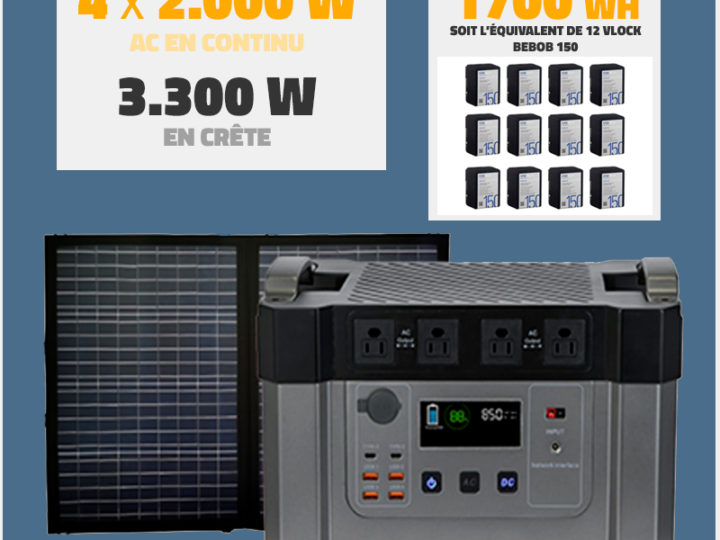 Groupe électrogène sur batterie 2000W // 1700wh